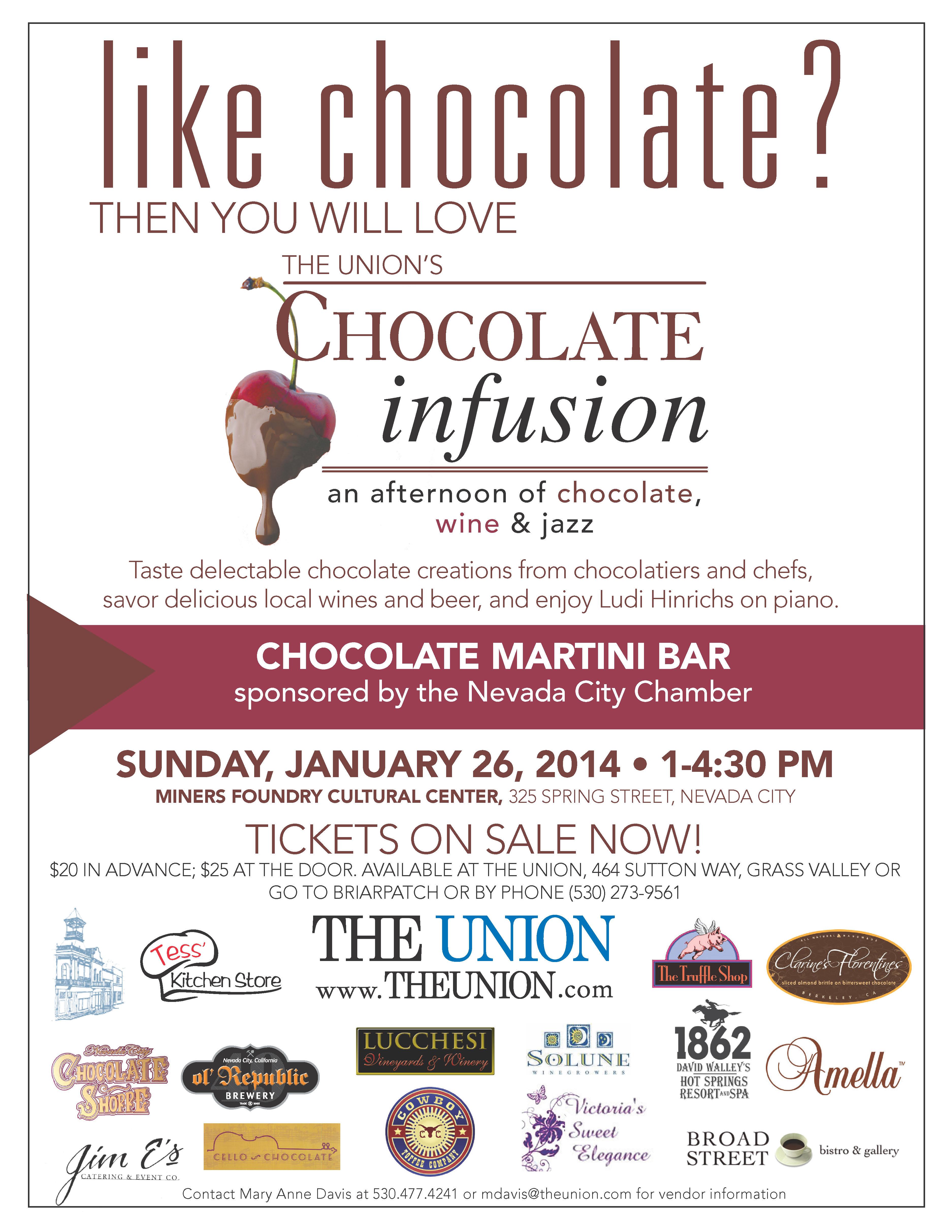 Chocolate Infusion ~ Sunday, Janaury 26, 2014 ~ 1:00 - 4:30 p.m. ...