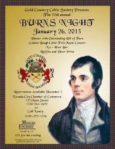 Burns Night ~ Saturday, January 26, 2013 ~ 4:00 p.m. Doors ...